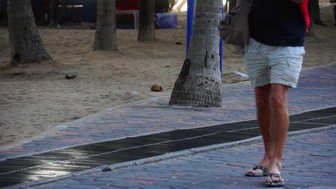 Man Walking Lower Body Stock Video Footage