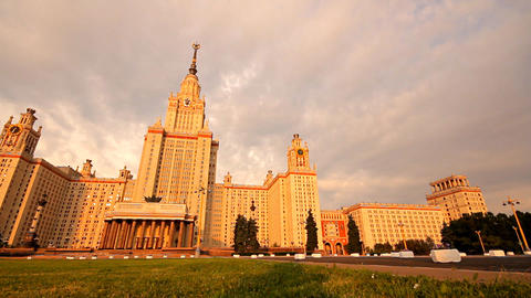 morning Moscow State University slider Footage