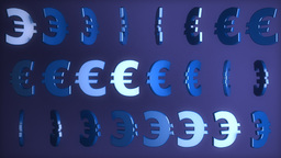 Euro signs Stock Video Footage