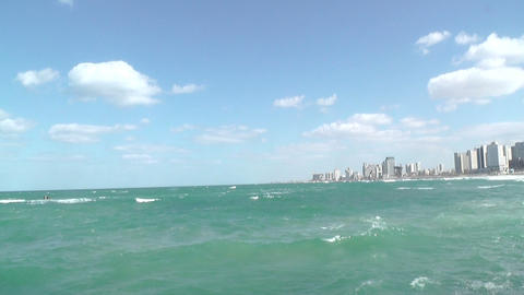 Beaches of Tel-Aviv , Israel Stock Video Footage