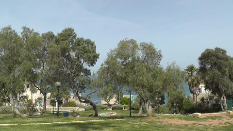 View of sea in old Yaffo city.Israel Stock Video Footage