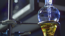 Chemistry Lab Slow Motion 03 stock footage