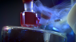 Chemistry Lab Steam Slow Motion 07 stock footage