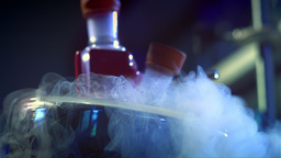 Chemistry Lab Steam Slow Motion 11 stock footage