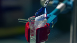 Chemistry Lab Slow Motion 43 stock footage