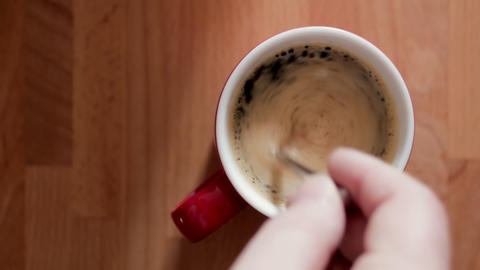 Coffee Cup stock footage
