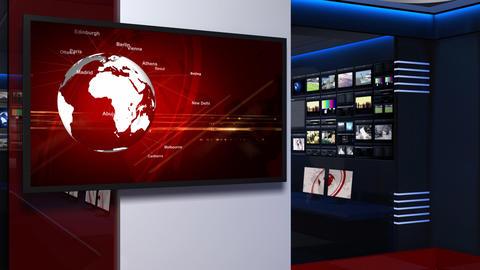 Virtual studio 053 Stock Video Footage