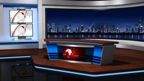 Virtual studio 056 Stock Video Footage