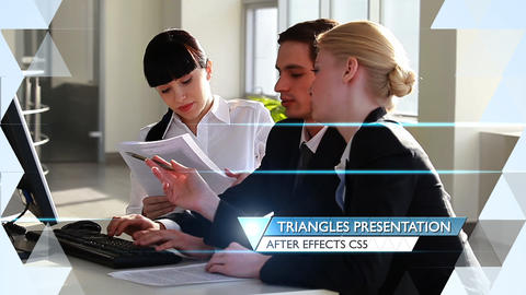 Triangles Presentation - After Effects Template After Effectsテンプレート