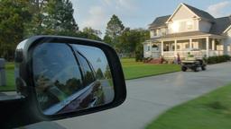 Neighborhood Driving Stock Video Footage