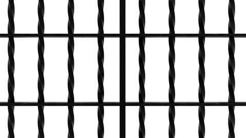 iron bars 7 Stock Video Footage