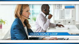 Clean Display Loop - Apple Motion and Final Cut Pro X Template Apple Motionテンプレート