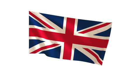 British Flag_013 Stock Video Footage
