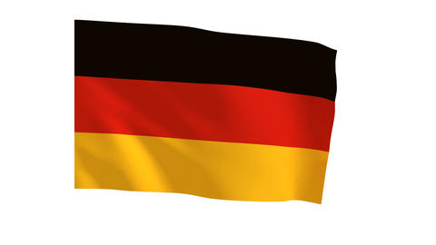 German flag_017 Stock Video Footage