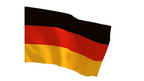 German flag_017 Stock Video Footage