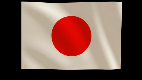 Japans flag_011 Stock Video Footage