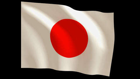 Japans flag_011 Stock Video Footage