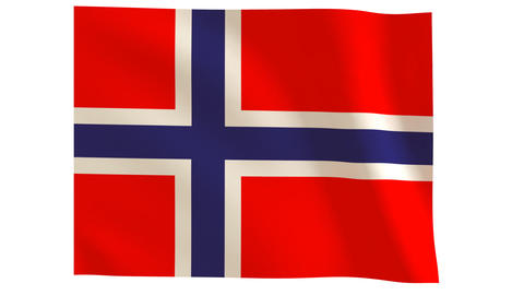 Norway flagg 019 Stock Video Footage