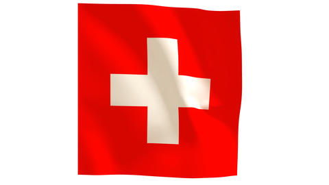 Swiss flag_020 Stock Video Footage