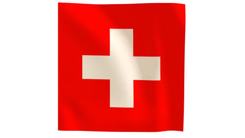 Swiss flag_020 Stock Video Footage
