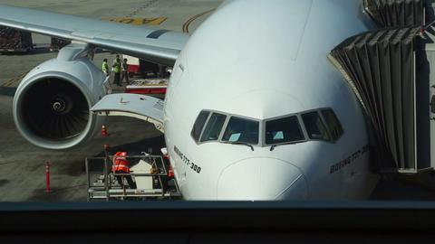 Pre-flight preparations Stock Video Footage
