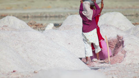 Salt mining Stock Video Footage