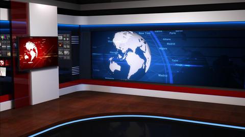 Virtual studio_054 Stock Video Footage