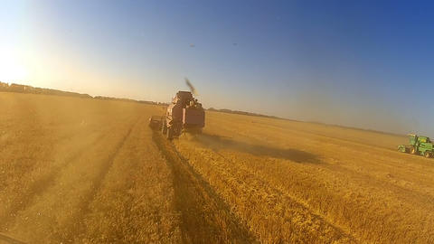 Dusty harvesting Stock Video Footage