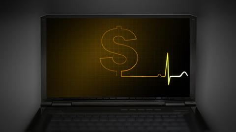 EKG monitor money graphic Animation