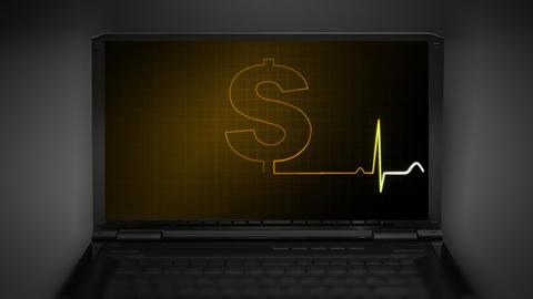 EKG monitor money graphic Animation
