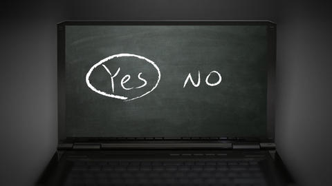 yes no selection Animation