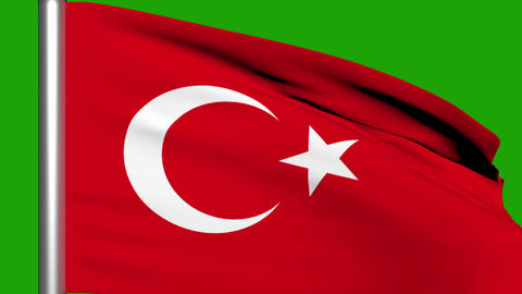 Flag Animation Turkey Stock Video Footage