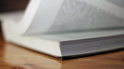 Flipping Pages In A Book stock footage