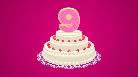 Birthday cake CG動画