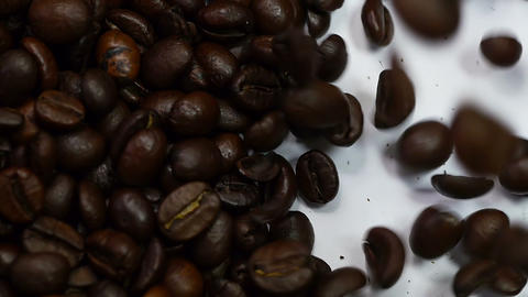 Pouring coffee from left to right Stock Video Footage