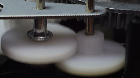 Rotating plastic gears Footage