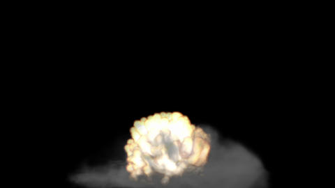 Fire and smoke - explosion Stock Video Footage