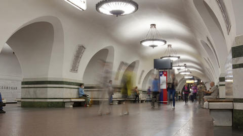 Subway station timelapse Footage