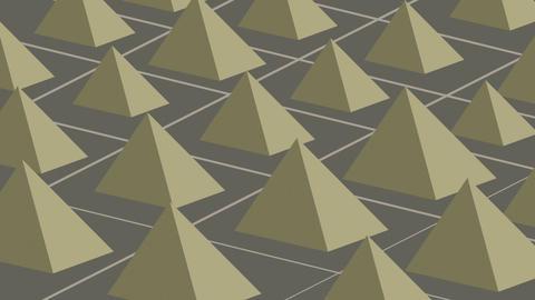 Pyramid tracks Stock Video Footage