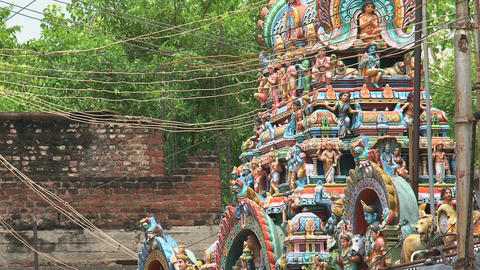 Statues The Meenakshi Temple Stock Video Footage