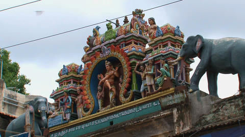 Statues Meenakshi Temple Stock Video Footage
