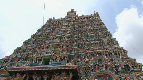 Top of The Meenakshi Temple, Madurai, India Stock Video Footage