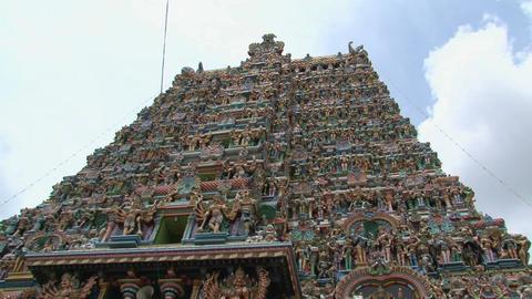 Top of The Meenakshi Temple, Madurai, India Stock Video Footage