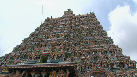 Top of The Meenakshi Temple, Madurai, India Footage