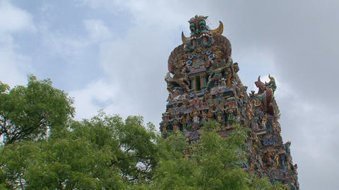 Top of The Meenakshi Temple, Madurai Stock Video Footage