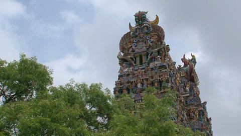 Top of The Meenakshi Temple, Madurai Stock Video Footage
