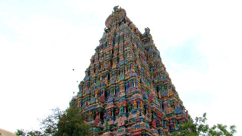 The Meenakshi Temple Stock Video Footage