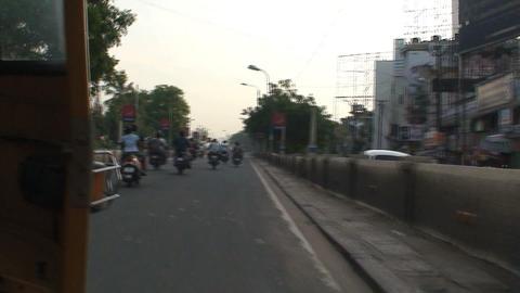Speeding Tuk Tuk Stock Video Footage