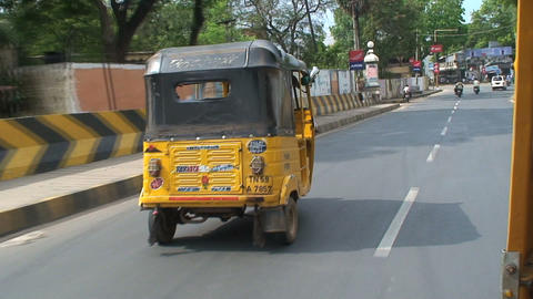 Speeding fast Tuk Tuk Stock Video Footage