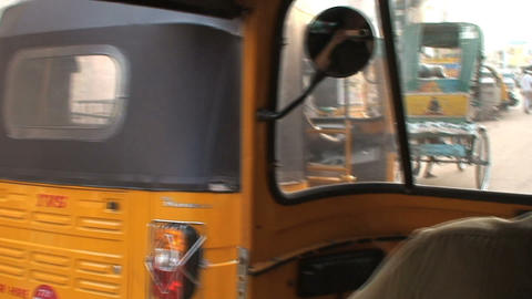 Tuk Tuk in busy street Stock Video Footage